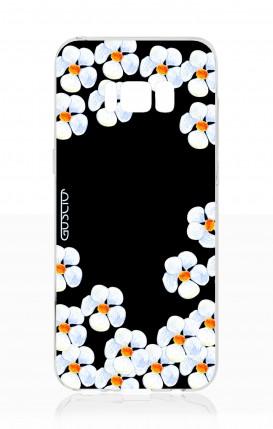 Cover Samsung S8 - Fiori bianchi