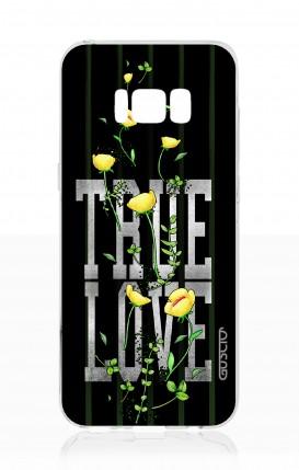 Cover Samsung S8 - True Love con fiori gialli