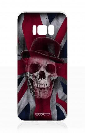 Cover Samsung S8 - Teschio su bandiera inglese