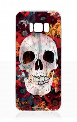 Cover Samsung S8 - Teschio e fiori arancioni