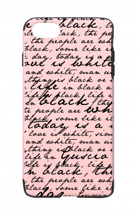 Cover Skin Feeling Apple iphone 7/8 PINK - B&W Letter