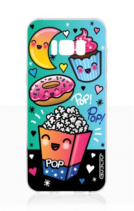 Cover TPU Samsung S8 - Kawaii popcorn