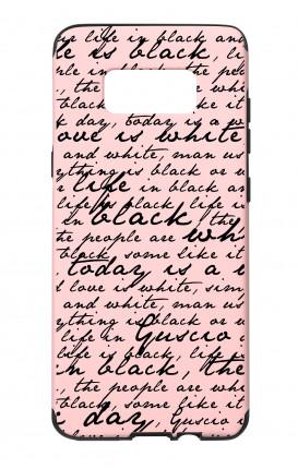 Cover Skin Feeling Samsung S8 PINK - Scritte in bianco e nero