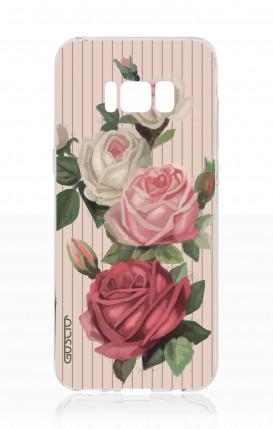 Cover Samsung S8 - Rose e righe