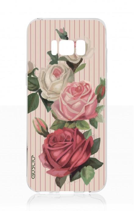 Cover TPU Samsung S8 - Rose e righe