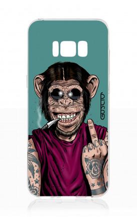 Cover TPU Samsung S8 Plus - Scimmia felice