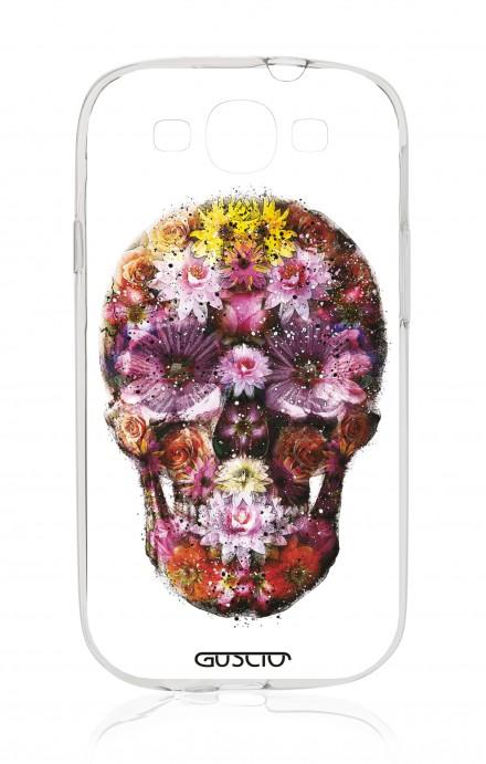 Cover Samsung Galaxy S3 GT i9300 - Flower Skull