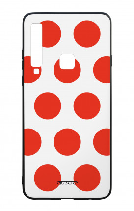 Samsung A9 2018 WHT Two-Component Cover - Red Polka dot