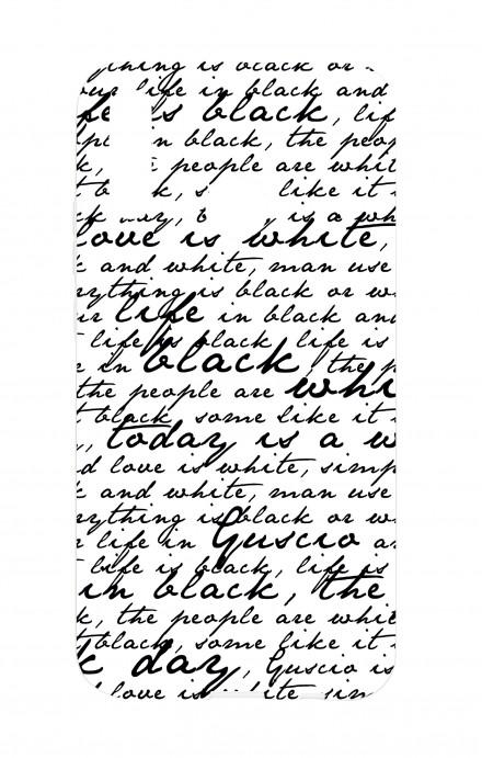 Cover Samsung A40 - Scritte in bianco e nero