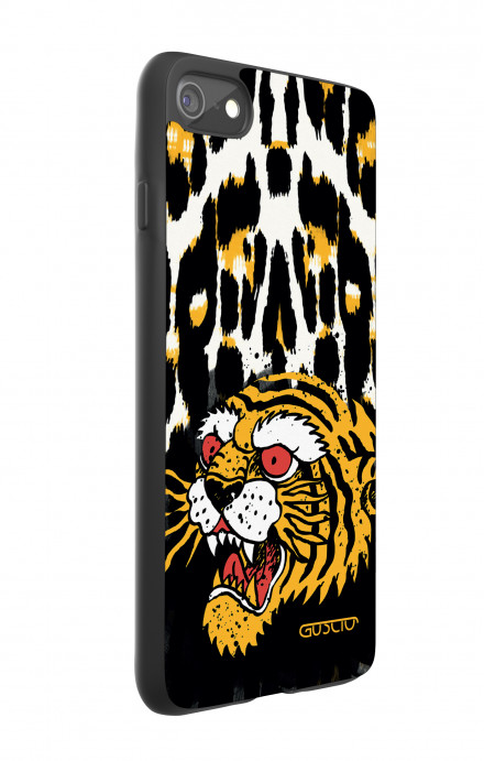 Apple iPhone 7/8 White Two-Component Cover - Tiger Animalier