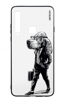 Samsung A9 2018 WHT Two-Component Cover - Business dog