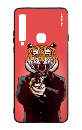 Samsung A9 2018 WHT Two-Component Cover - Tiger with Gun