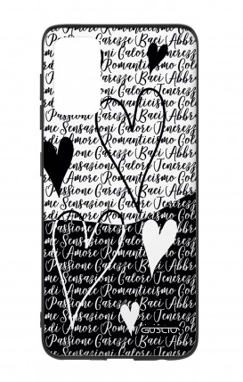 Samsung S20Plus Two-Component Cover - Black & White Writings