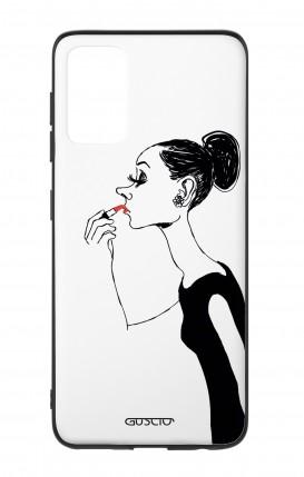 Cover Bicomponente Samsung S20Plus - Miss con rossetto