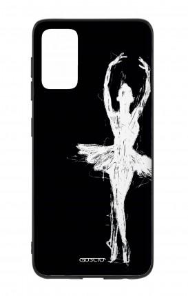 Cover Bicomponente Samsung S20Plus - Ballerina su nero