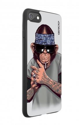 Cover Bicomponente Apple iPhone 7/8 - Scimpanze con bandana