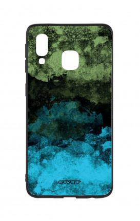 Cover Bicomponente Samsung A20e - Mineral BlackLime