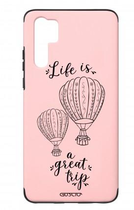 Case Skin Feeling Huawei P30 PRO PNK - Life is a great trip
