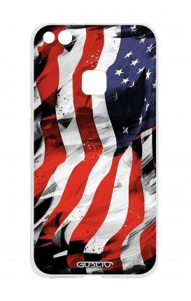 Cover TPU Huawei P10 Lite - Bandiera americana