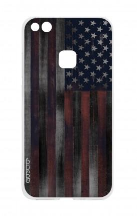 Cover Huawei P10 Lite - Dark USA Flag