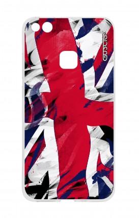 Cover Huawei P10 Lite - Bandiera inglese usata