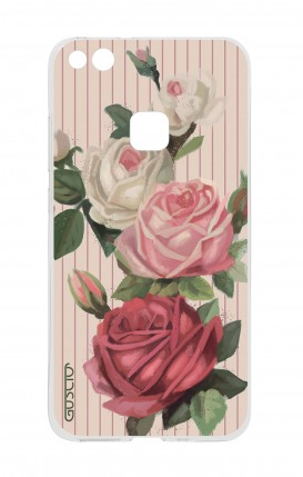 Cover Huawei P10 Lite - Roses and stripes