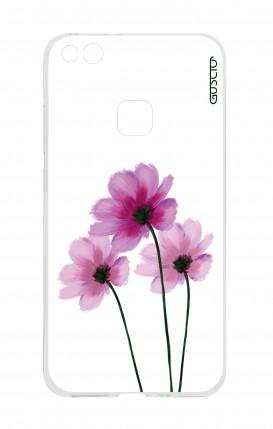 Cover Huawei P10 Lite - Fiori su bianco