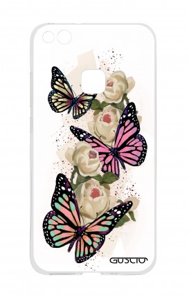 Cover Huawei P10 Lite - Farfalle su bianco