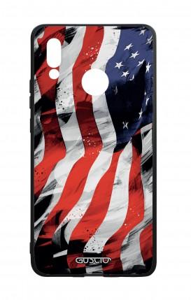 Cover Bicomponente Huawei P20Lite - Bandiera americana