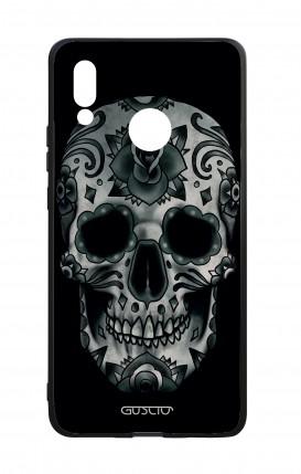 Huawei P20Lite WHT Two-Component Cover - Dark Calavera Skull