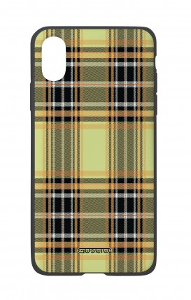 Apple iPhone XR Two-Component Cover - Yellow tartan