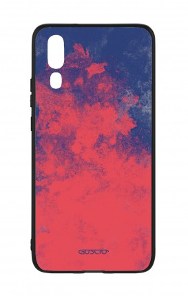 Huawei P20 WHT Two-Component Cover - Mineral Red Blue