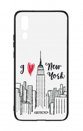 Huawei P20 WHT Two-Component Cover - I love NY