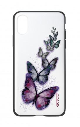 Cover Bicomponente Apple iPhone XS MAX - Volo di farfalle