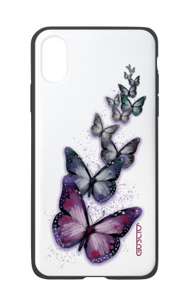 Apple iPh XS MAX WHT Two-Component Cover - Butterflies