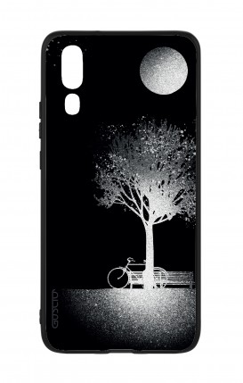 Huawei P20 WHT Two-Component Cover - Moon and Tree