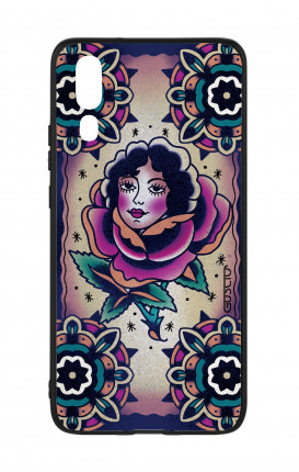 Cover Bicomponente Huawei P20 - Old school Tattoo rose&girl