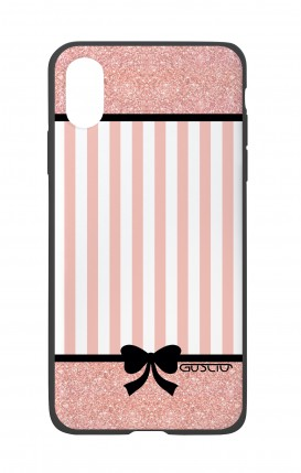 Apple iPh XS MAX WHT Two-Component Cover - Romantic pink