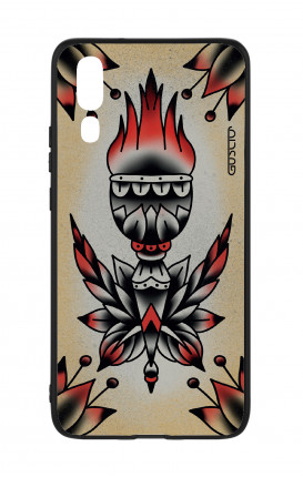 Huawei P20 WHT Two-Component Cover - Old School Tattoo Flame
