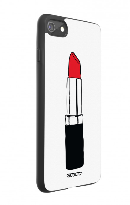 Apple iPhone 7/8 White Two-Component Cover - Red Lipstick