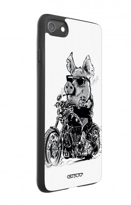 Cover Bicomponente Apple iPhone 7/8 - Maiale biker