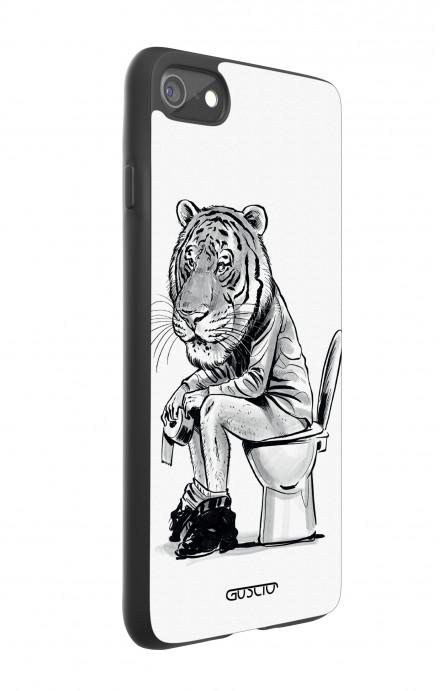 Cover Bicomponente Apple iPhone 7/8 - Tigre al cesso