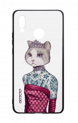 Cover Bicomponente Huawei P20Lite - Gattina principessa bianco