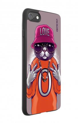 Cover Bicomponente Apple iPhone 7/8 - Gatto LOVE