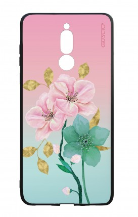 Huawei Mate10Lite WHT Two-Component Cover - Pink Flowers