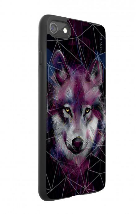Cover Bicomponente Apple iPhone 7/8 - Lupo neon