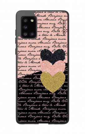 Cover Samsung A31s - Hearts on words