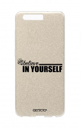Cover GLITTER Huawei P10 GLD - Believe in Yourself