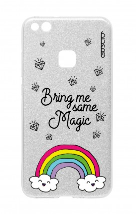 Cover GLITTER Huawei P10Lite SLV - Raimbow magic