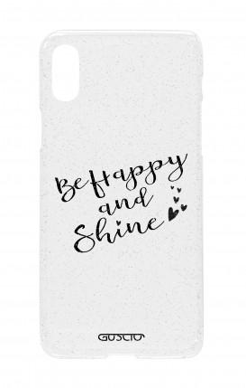 Cover Glitter Soft Apple iPhone X/XS - Sii felice e brilla